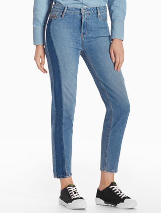 CALVIN KLEIN VERTI HIGH STRAIGHT JEANS