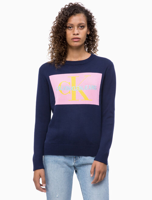 CALVIN KLEIN MONOGRAM BOX SWEATER