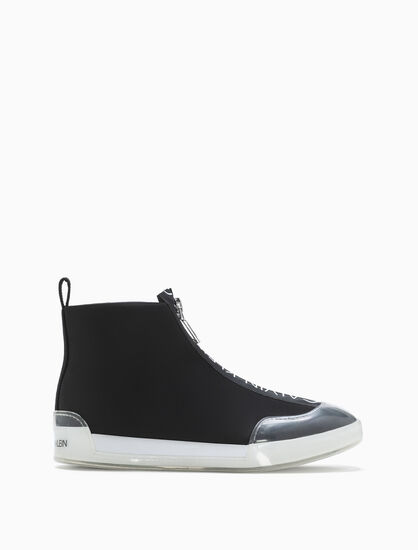 CALVIN KLEIN FABRICE ZIP UP BOOTS