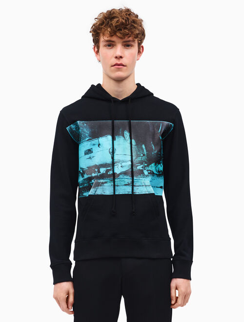 CALVIN KLEIN car crash hooded sweatshirt