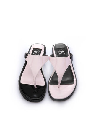 CALVIN KLEIN PATENT LEATHER SANDALS