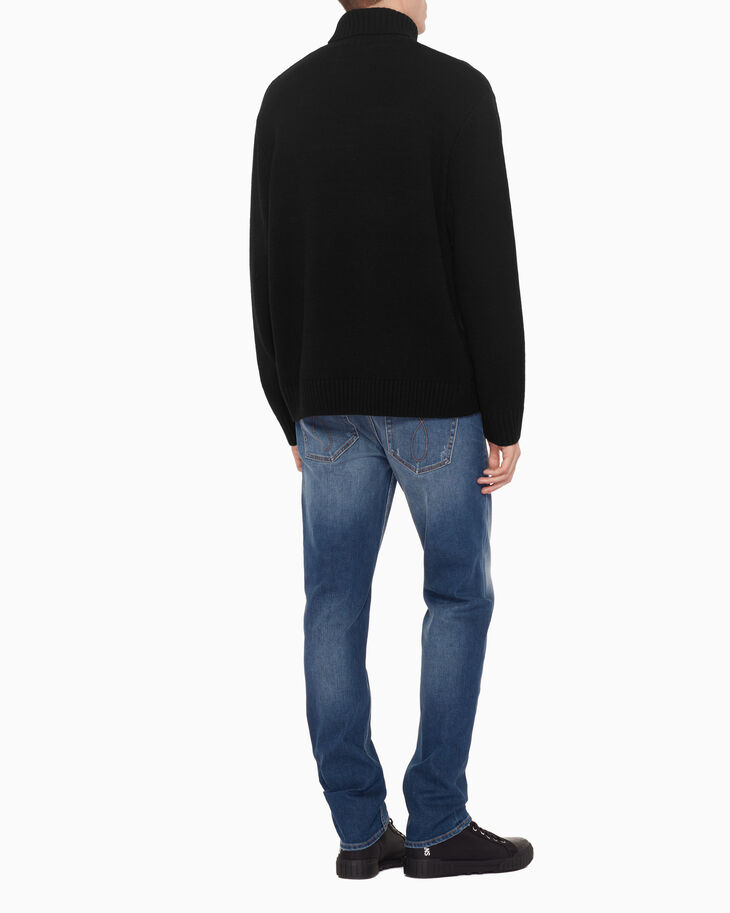 CALVIN KLEIN WOOL ROLL NECK SWEATER