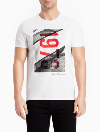CALVIN KLEIN 1978 FLAG TEE IN SLIM FIT