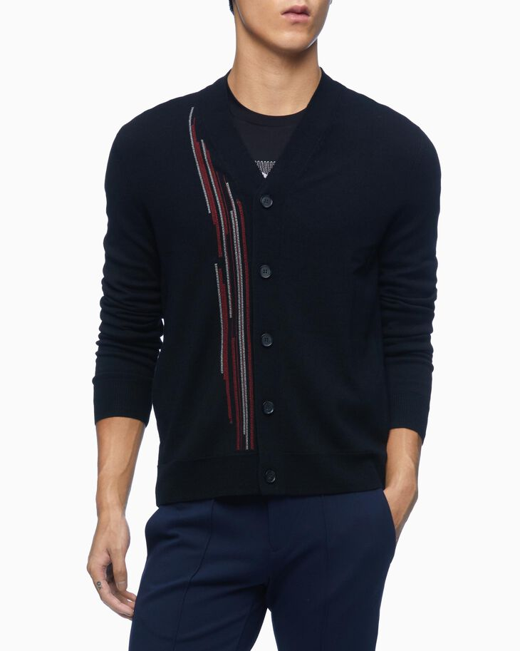 CALVIN KLEIN EMBROIDERED GRAPHIC LONG SLEEVE TEE