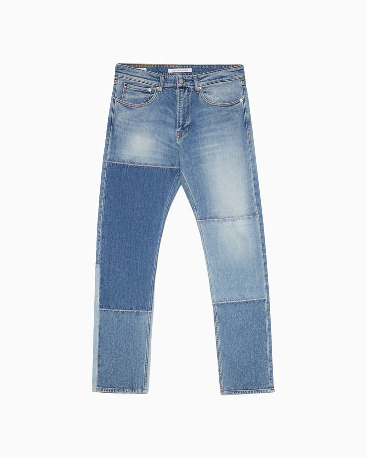 CALVIN KLEIN CKJ 056 ATHLETIC TAPER PATCHWORK JEANS