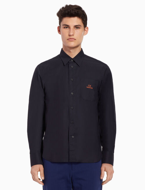 CALVIN KLEIN Classic shirt with logo chest pocket
