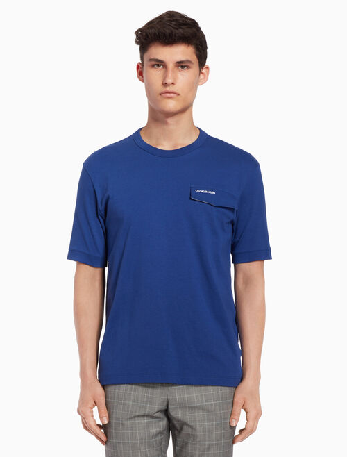 CALVIN KLEIN 로고 포켓 티셔츠
