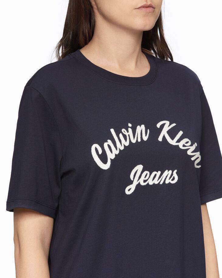 CALVIN KLEIN BEADED LOGO T シャツ