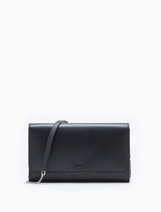 CALVIN KLEIN LEAHTER WALLET WITH CHAIN