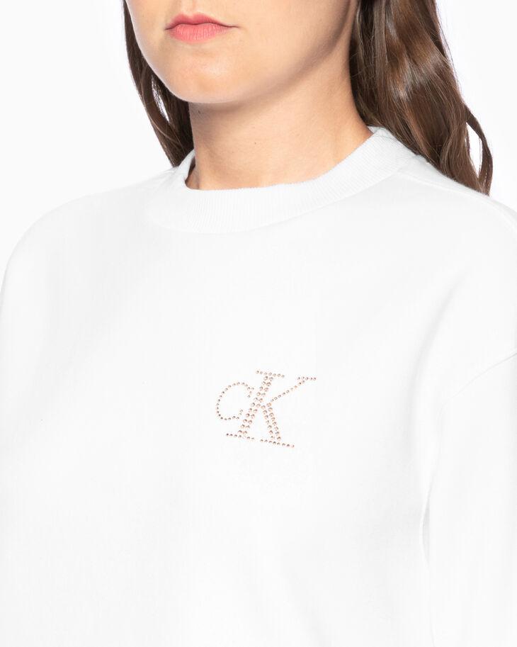 CALVIN KLEIN MOCKNECK RHINESTONE MONOGRAM スウェットシャツ