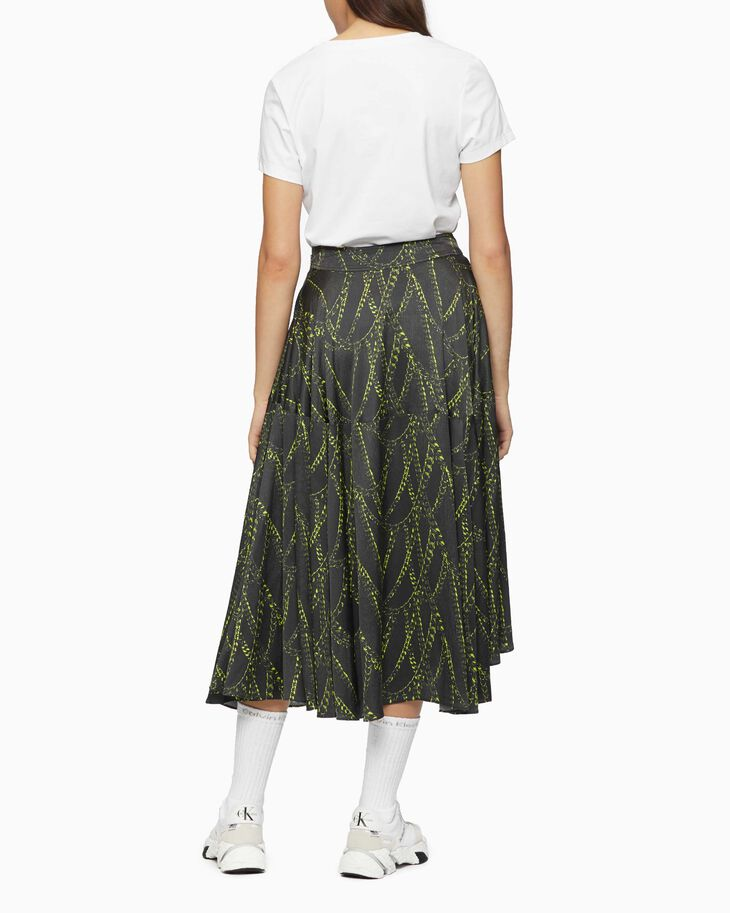 CALVIN KLEIN ALL OVER PRINT A-LINE SKIRT