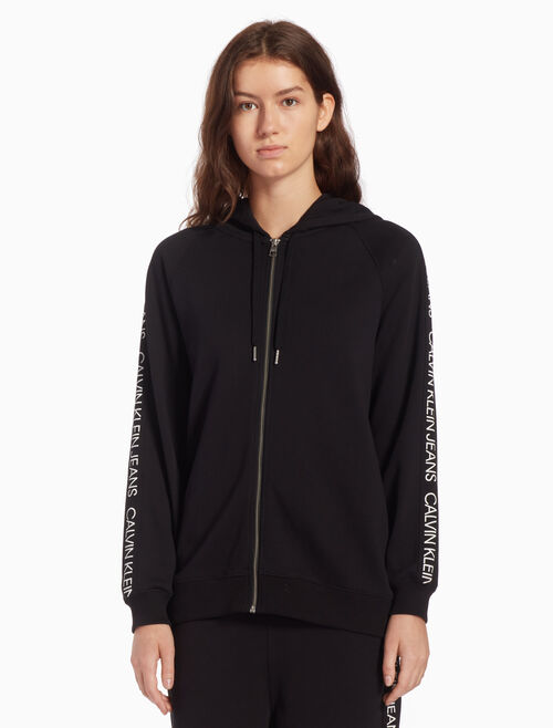 CALVIN KLEIN INSTITUTIONAL ZIP UP HOODIE
