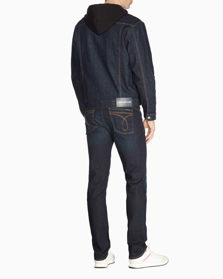 CALVIN KLEIN MEN WESTERN STITCH SLIM DENIM JACKET