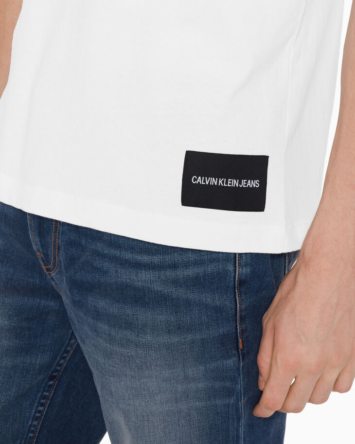 CALVIN KLEIN 립 인서트 레귤러 티셔츠
