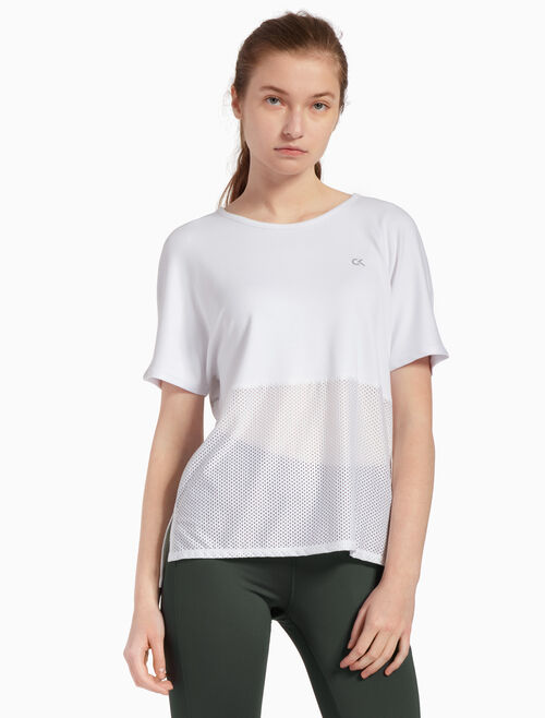 CALVIN KLEIN MESH PANEL TOP