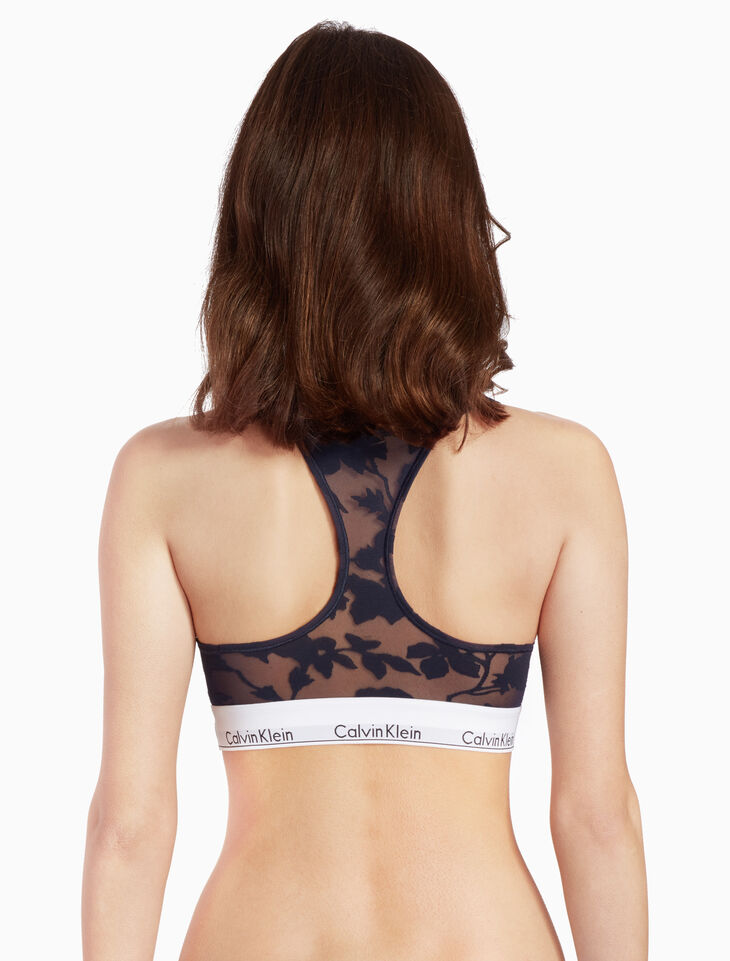 CALVIN KLEIN MODERN COTTON BURNOUT BRALETTE