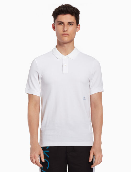CALVIN KLEIN Logo embroidery polo shirt