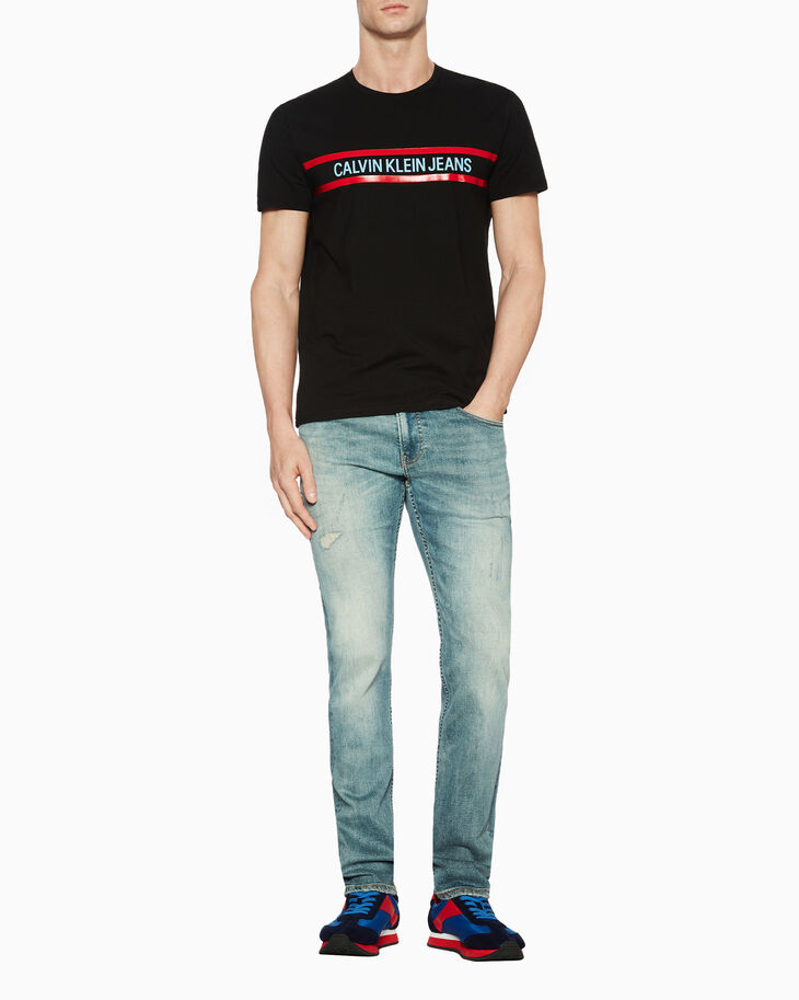 CALVIN KLEIN INSTITUTIONAL LOGO BAND SLIM TEE