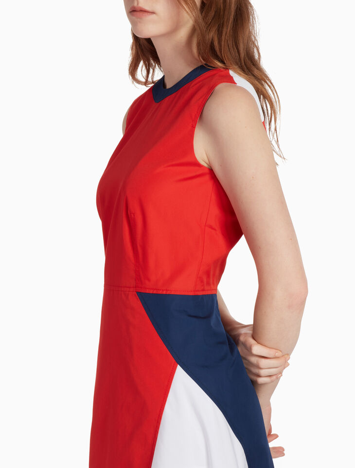 CALVIN KLEIN RETRO COLOR BLOCK DRESS