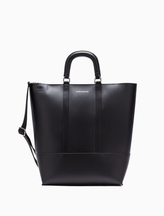 CALVIN KLEIN LEATHER ZIP TOTE