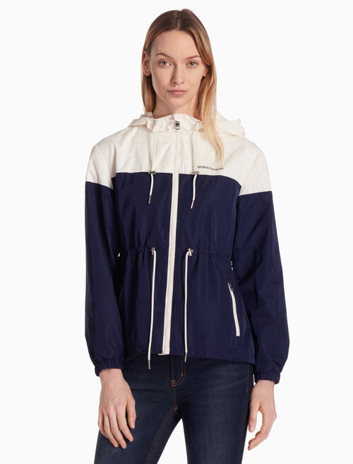 CALVIN KLEIN COLOR BLOCK JACKET WITH HOOD