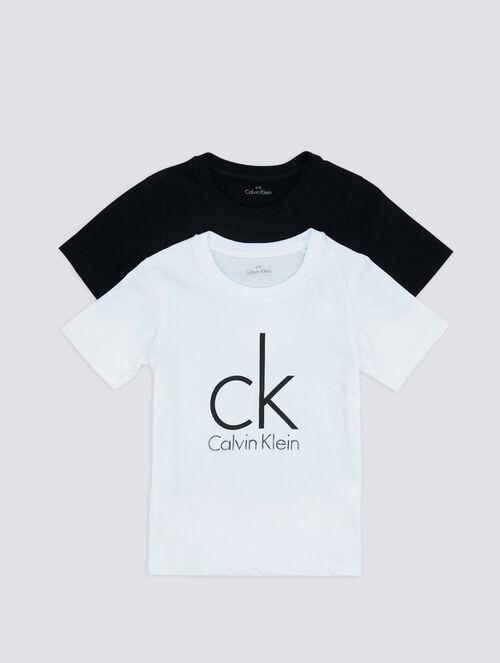CALVIN KLEIN BOYS MODERN COTTON 2 PACK TEE WITH SHORT SLEEVE