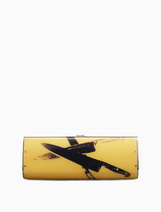 CALVIN KLEIN acrylic knives clutch