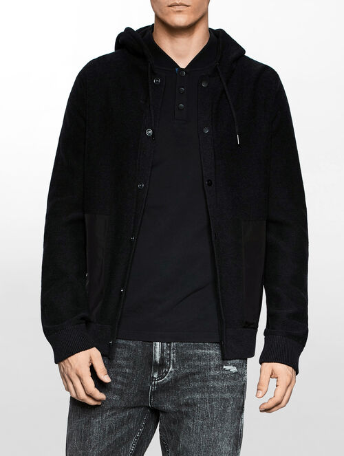 CALVIN KLEIN SIAL HOODED CARDIGAN