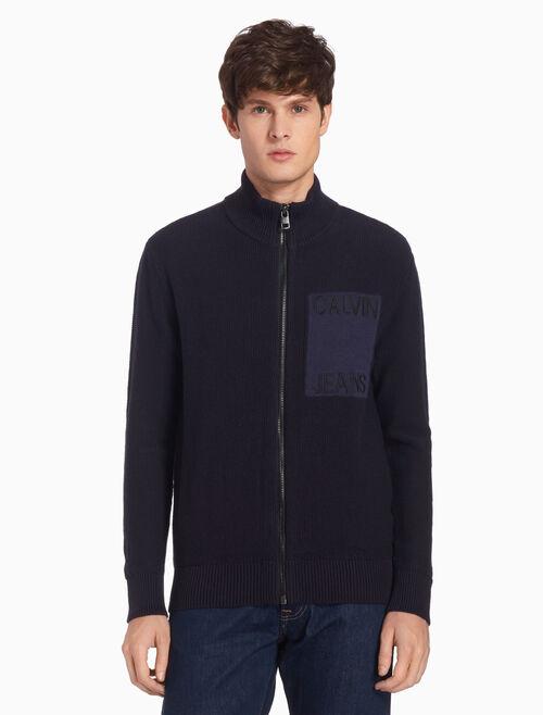 CALVIN KLEIN 니트 집업 재킷