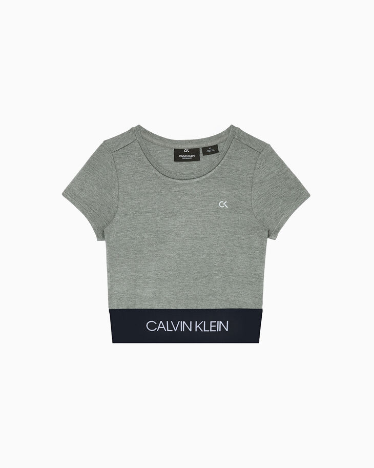 CALVIN KLEIN ACTIVE ICON CROPPED TEE