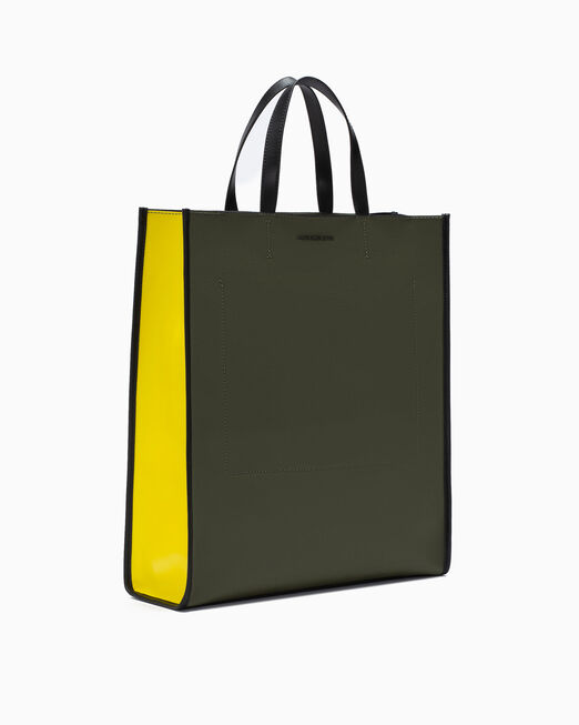 CALVIN KLEIN COATED COTTON SHOPPING TOTE