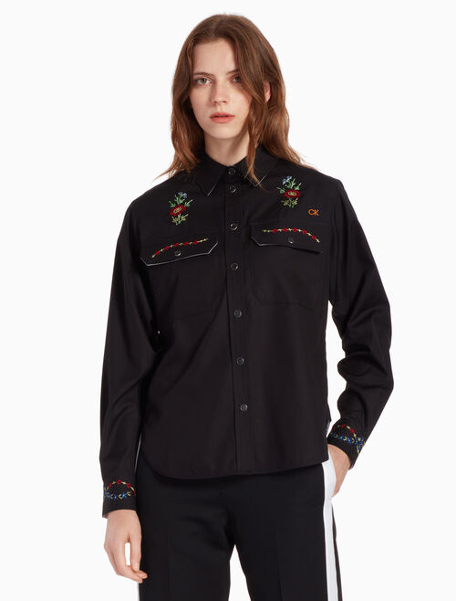 CALVIN KLEIN EMBROIDERED SHIRT