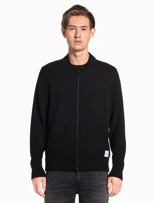 CALVIN KLEIN KNIT ZIP-UP SWEATER