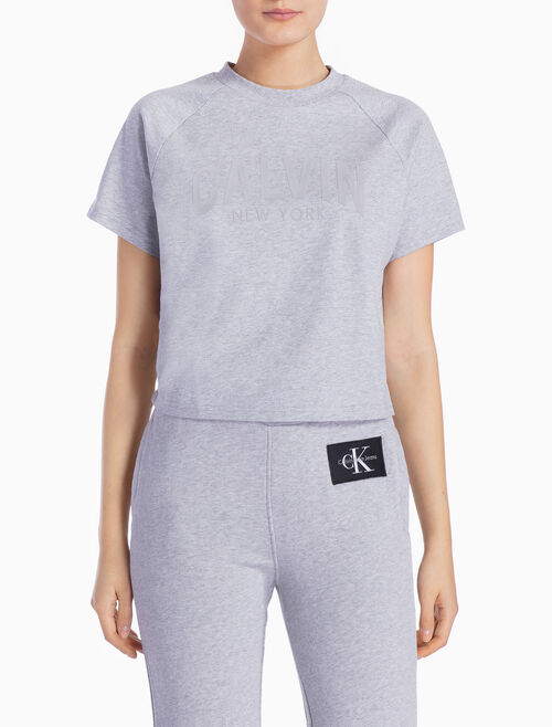 CALVIN KLEIN LOGO TEE WITH RAGLAN SLEEVES