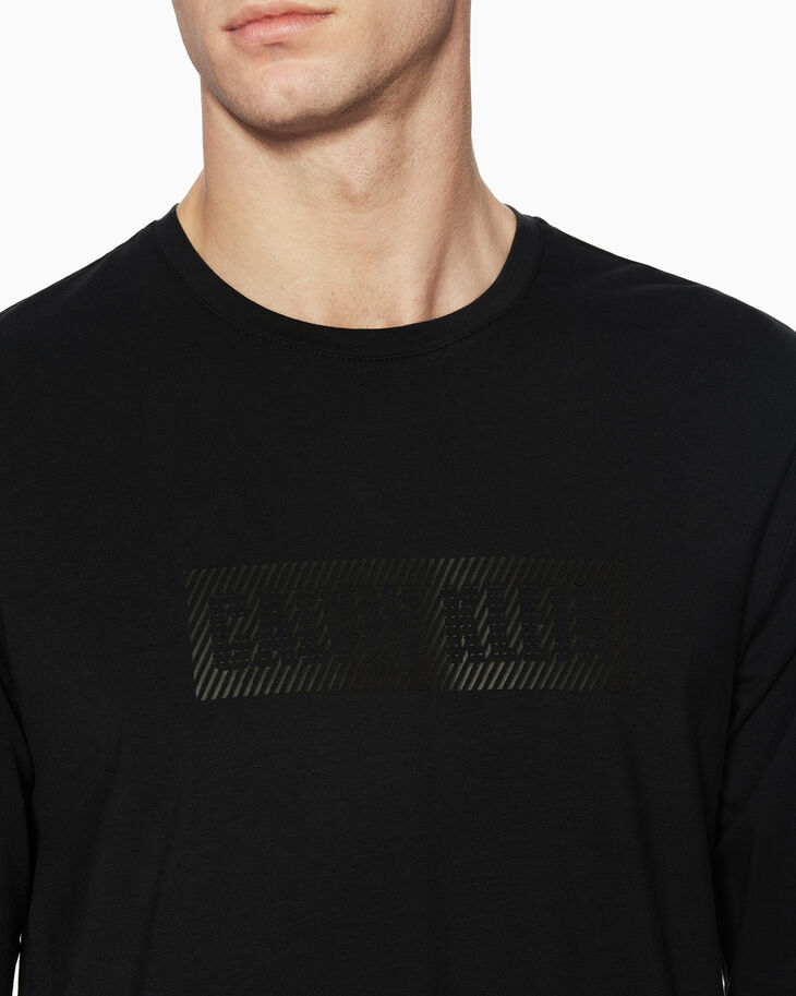 CALVIN KLEIN OPTICAL ILLUSION LOGO TEE