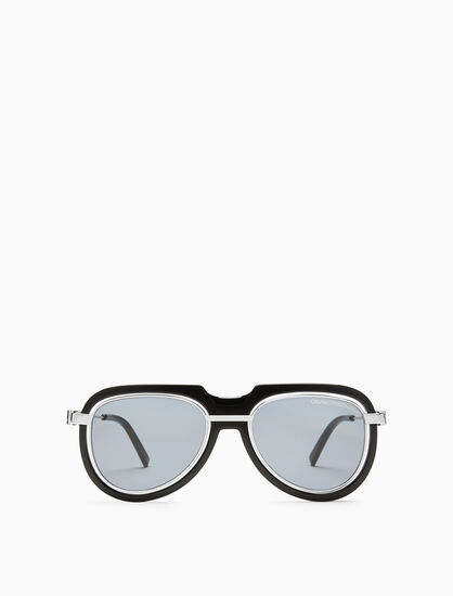 CALVIN KLEIN FLOATING RIM PILOT SUNGLASSES