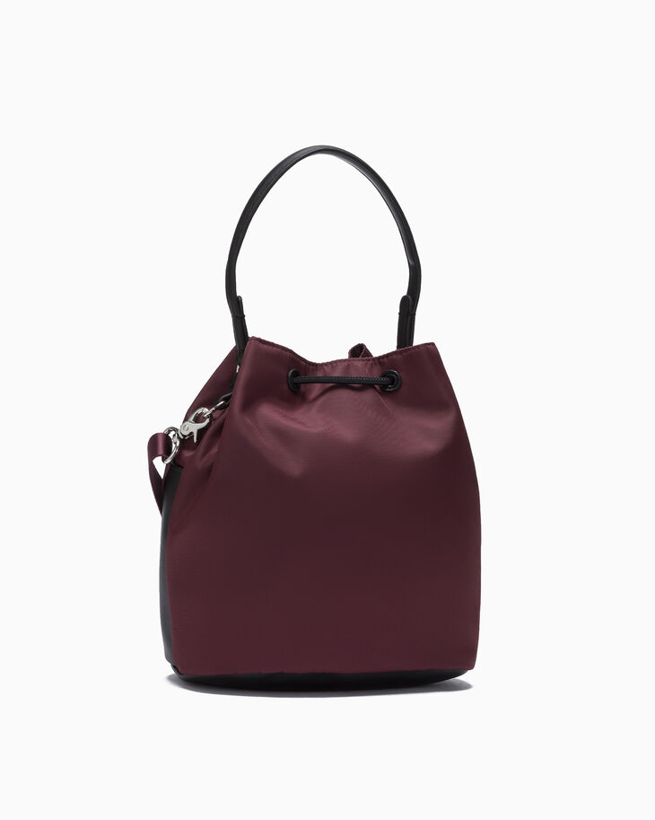 CALVIN KLEIN SLEEK NYLON BUCKET BAG