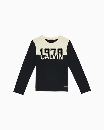 CALVIN KLEIN BOYS 1978 CALVIN COLOR BLOCK T シャツ