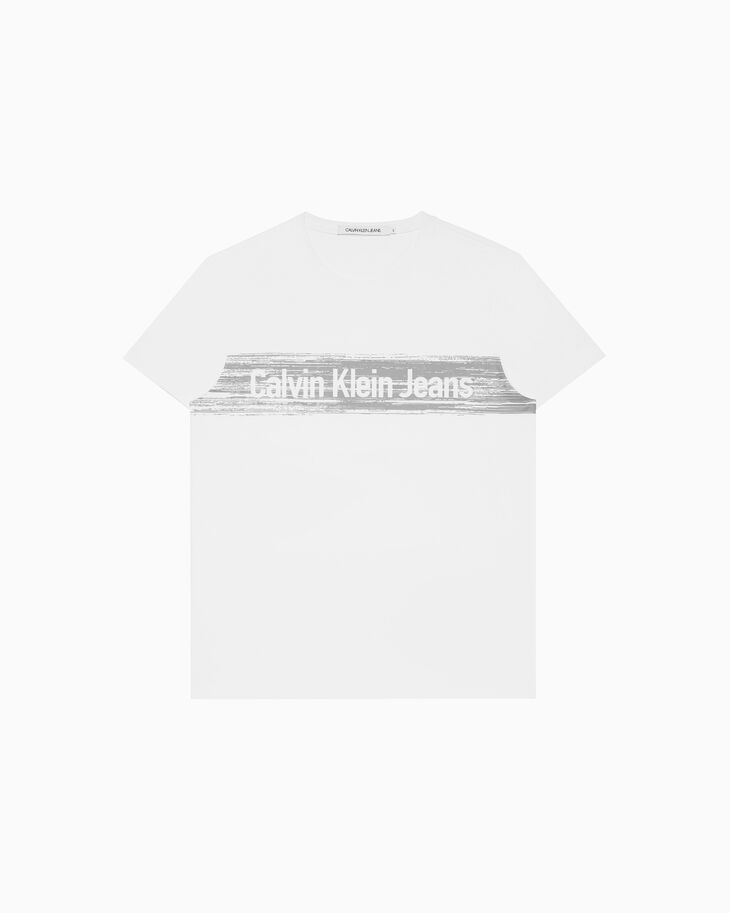 CALVIN KLEIN INSTITUTIONAL LOGO GRAPHIC 上衣