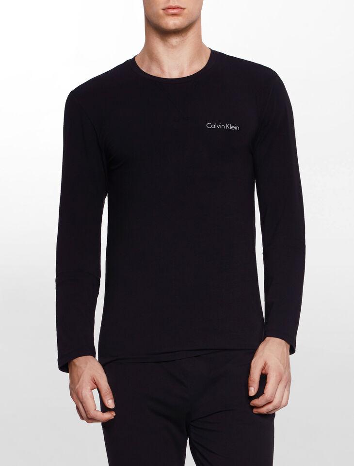 CALVIN KLEIN CUSTOMIZED STRETCH LOUNGEWEAR Long Sleeves CREW NECK TOP