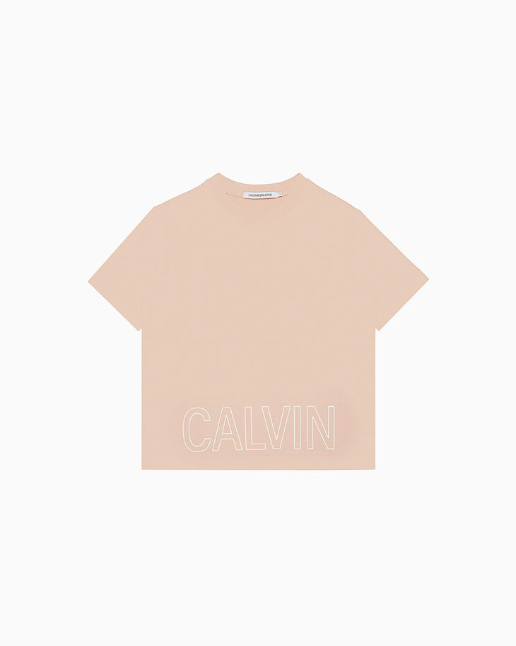 CALVIN KLEIN NEON OUTLINED LOGO Tシャツ