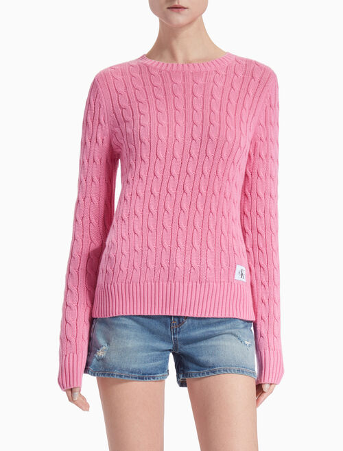 CALVIN KLEIN SABLE CABLE KNIT SWEATER