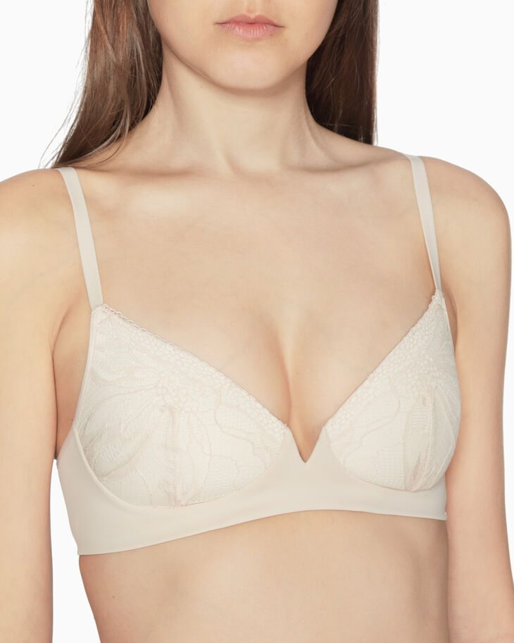 CALVIN KLEIN PETAL LACE LIGHTLY LINED プランジブラ