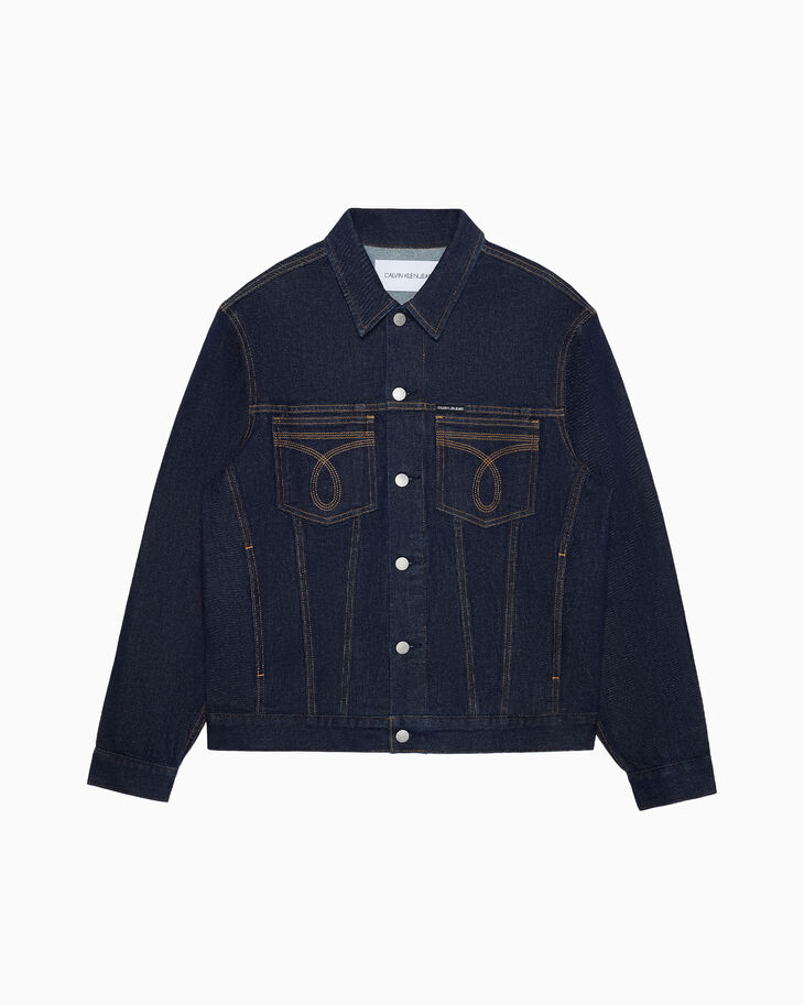 CALVIN KLEIN WESTERN STITCH SLIM DENIM JACKET
