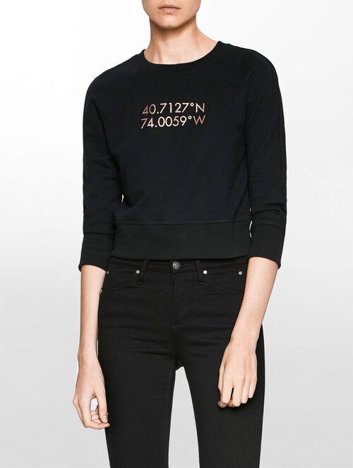 CALVIN KLEIN ニューヨークコーディネートプリントスウェットシャツ