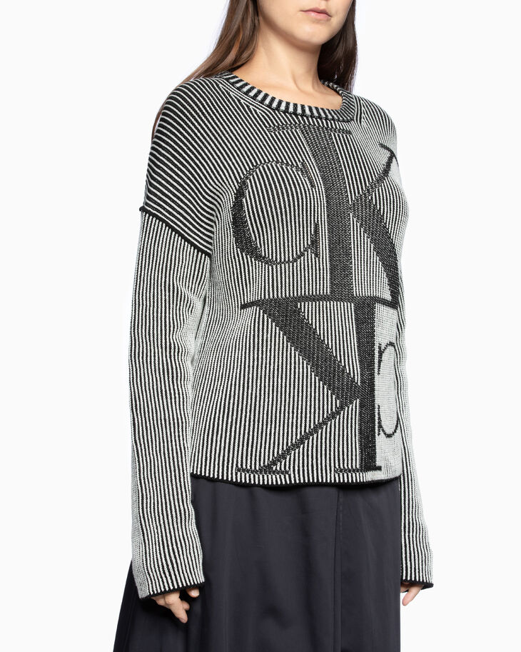 CALVIN KLEIN MIRRORED LOGO KNIT 풀오버