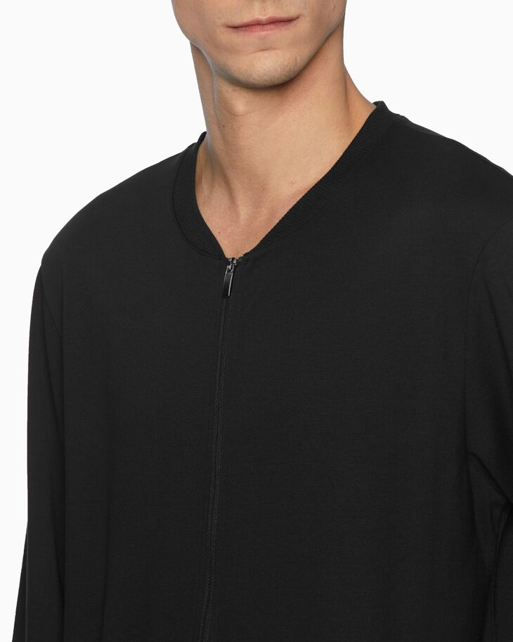 CALVIN KLEIN CK BLACK LOUNGE ZIP UP SWEATSHIRT