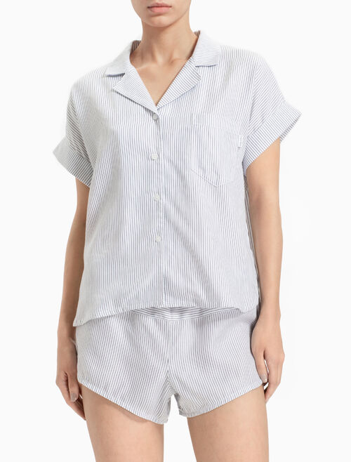 CALVIN KLEIN TENCEL BUTTON-DOWN 上衣