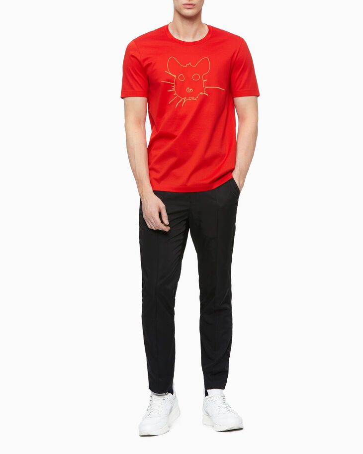 CALVIN KLEIN EMBROIDERED RAT TEE