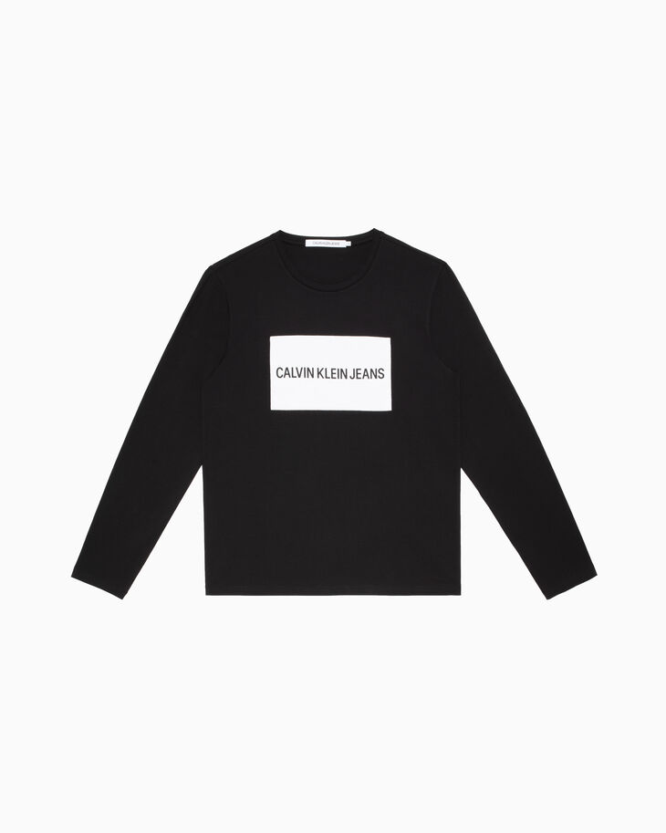 CALVIN KLEIN INSTITUTIONAL LOGO BOX TEE